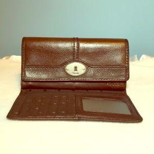 Vintage Fossil Genuine Leather Women's Wallet